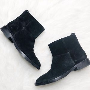 Theyskens Theory • Black Suede Pull on Boots